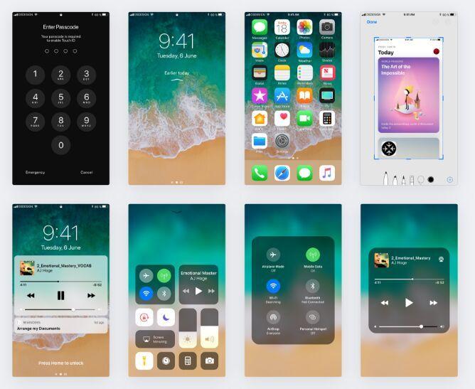 Free Apple iOS 11 GUI Kit | Free Web/Graphic Design