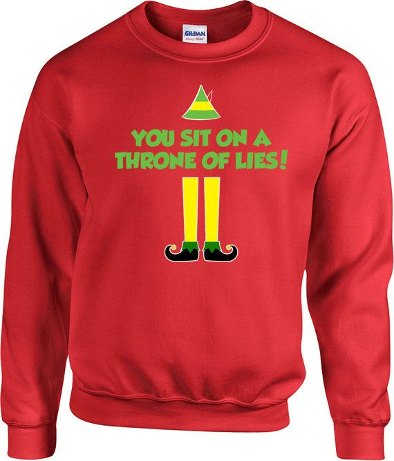 a2252dc7f Funny Xmas Sweater Buddy The Elf Sweatshirt Christmas Jumper Holiday  Pullover Christmas Gifts Elf Clothing Xmas