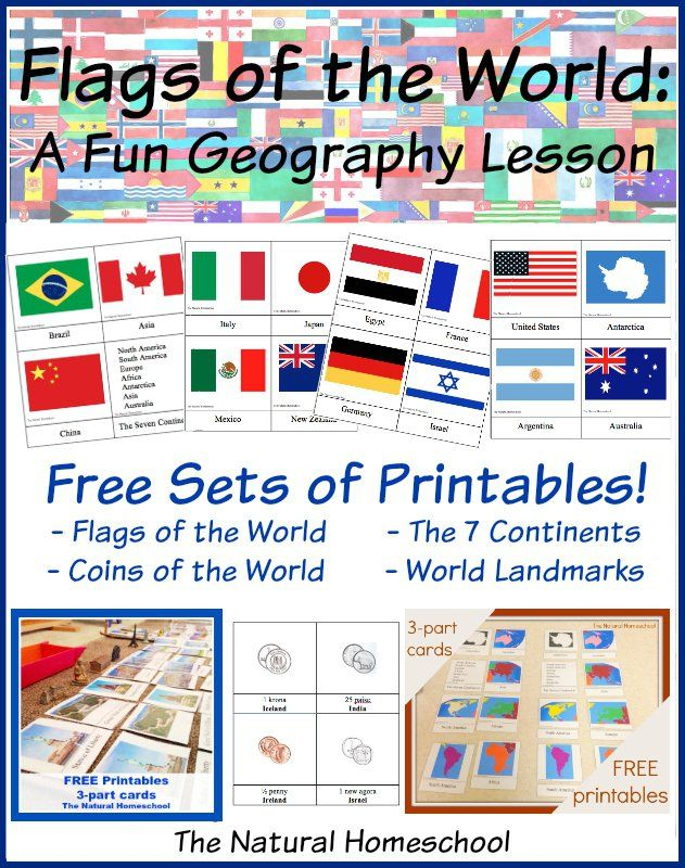 Country Flags of the World: A Fun Geography Lesson {Free Printable Flag Cards