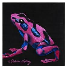 brand new f70a6 30997 Purple poison dart frog. Looks like awesome blue and hot pink to me, but  either way, SO COOL!  3
