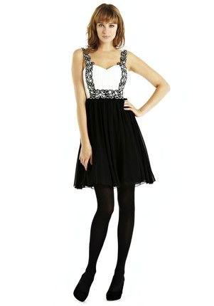 Blossom Embellished Monochrome Prom Dress  £40.00