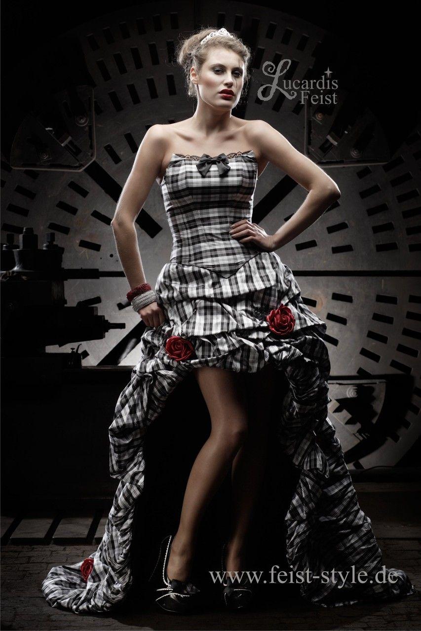 Extravagante Brautmode, schwarze Brautkleider, schwarz-weiße und ...