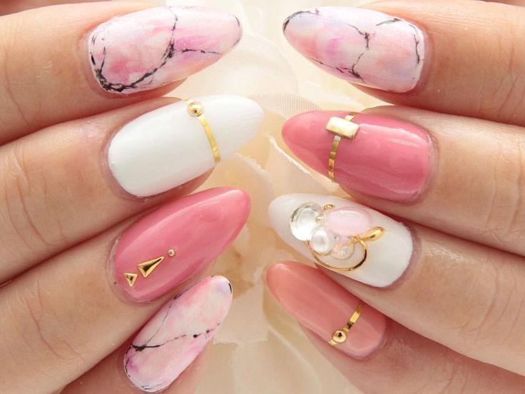 Pink Marble Nails Nail Designs Beautiful Nails Gorgeous Nails