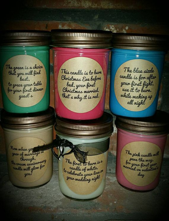 Wedding Gift Checks : 1st year Wedding poem candle set. Great bridal or wedding gift. Check ...
