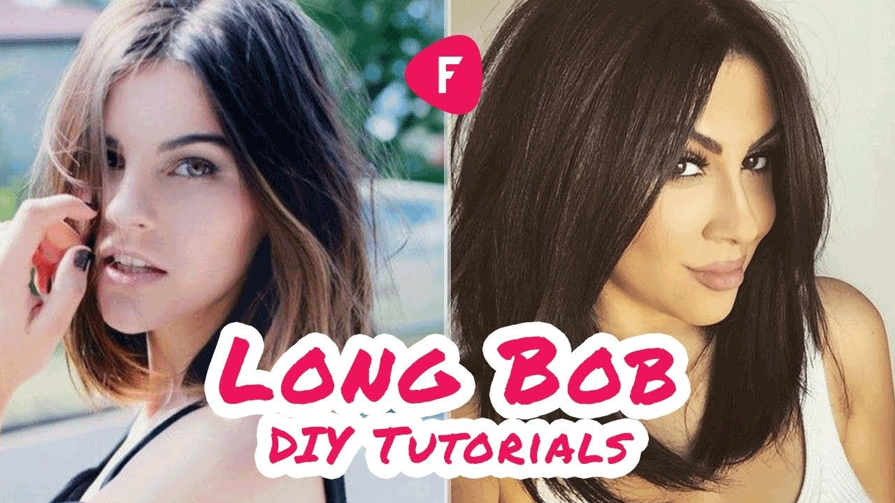 ✂ How to Cut Your Own Hair ❀ LONG BOB DIY Tutorial #diyhaircut