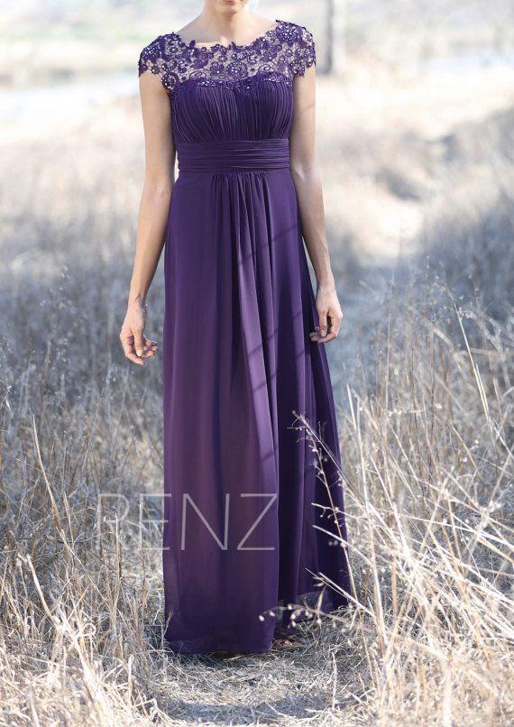 Party Dress Bright Purple Bridesmaid Dress Wedding Dressillusion