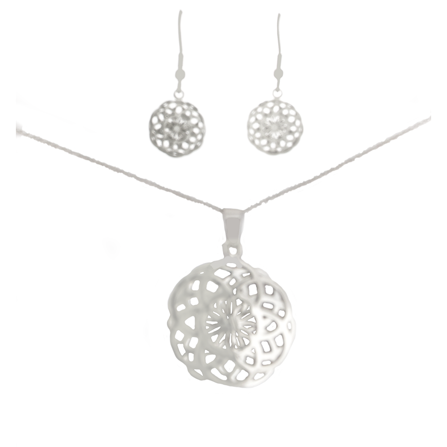 Seed of life pendant and earring set double layers design sacred