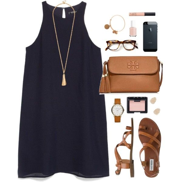A fashion look from June 2015 featuring MANGO dresses, Steve Madden sandals  and Tory Burch messenger bags. Browse and shop related looks.