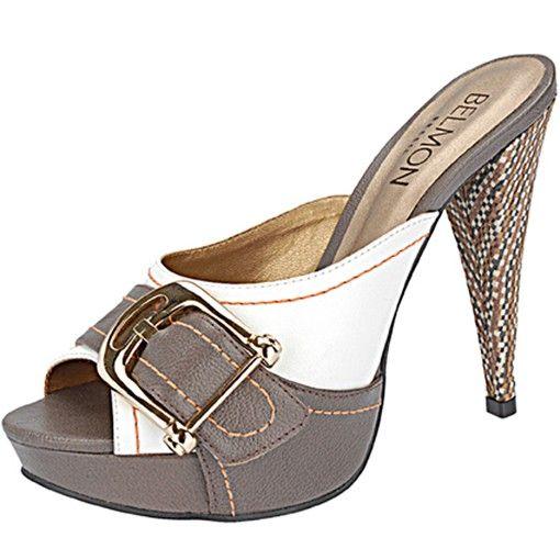 cb3e1d9f00 Tamanco Belmon - 395 Branco - 33 ao 43 - Sapatos Femininos ...