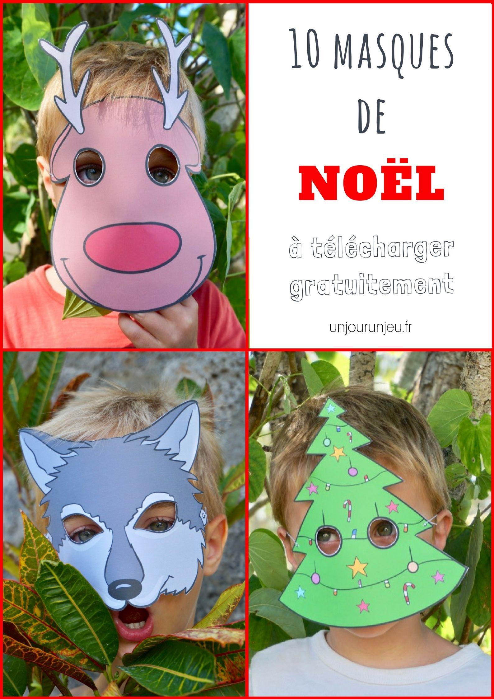 10 masques de no l imprimer gratuitement pour amuser vos enfants noyeux jo l jeux. Black Bedroom Furniture Sets. Home Design Ideas