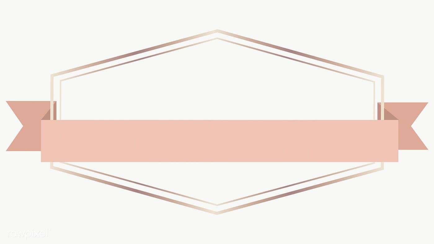 Download Premium Illustration Of Gold Frame With Pink Gold Ribbon Banner