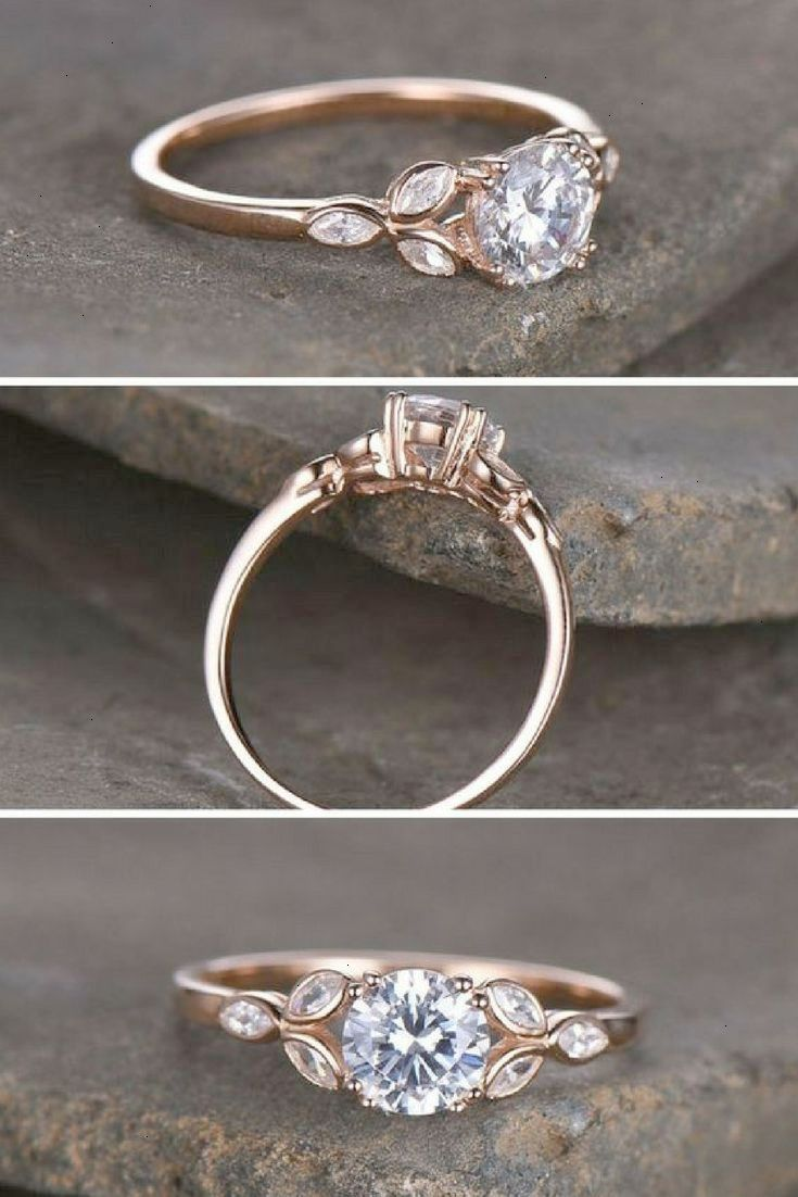 Simple Beautiful Rose Gold And Leaves Cubic Zirconia Is A