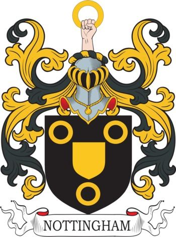 Nottingham Family Crest and Coat of Arms | coadb | Coat of