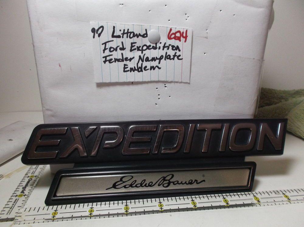 1997-2002 FORD EXPEDITION EDDIE BAUER  LH FENDER Emblem F75B-16703-AALH logo 624 #oemFord