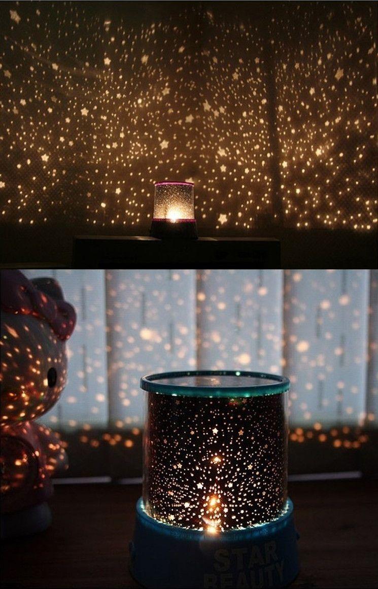 Romantic star master sky night cosmos projector light autorotate