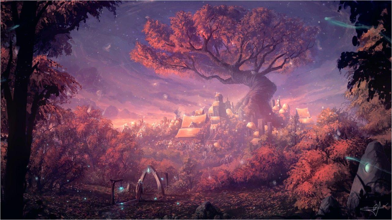 4k Wallpaper Fantasy City In 2020 Fantasy Landscape Fantasy Forest Digital Art Fantasy