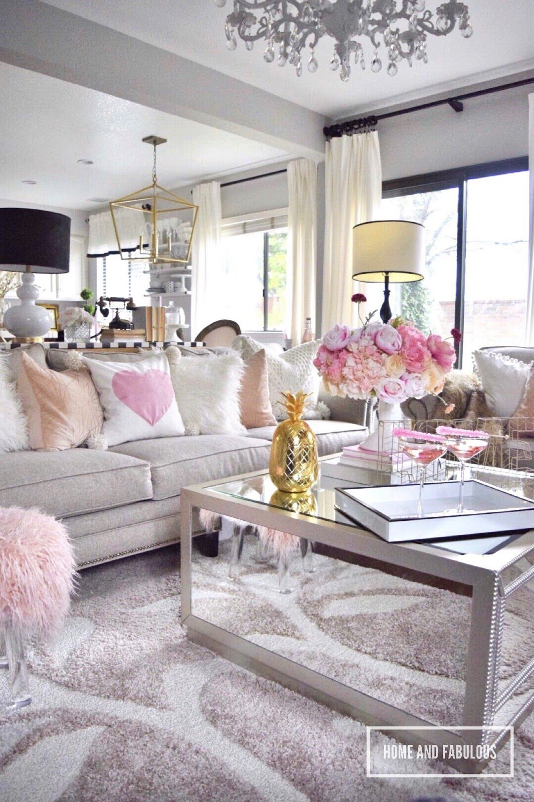 Simple Styling Ideas Valentin Day Edition Silver Living Room Decor Silver Living Room Girly Living Room #simple #decor #for #small #living #room