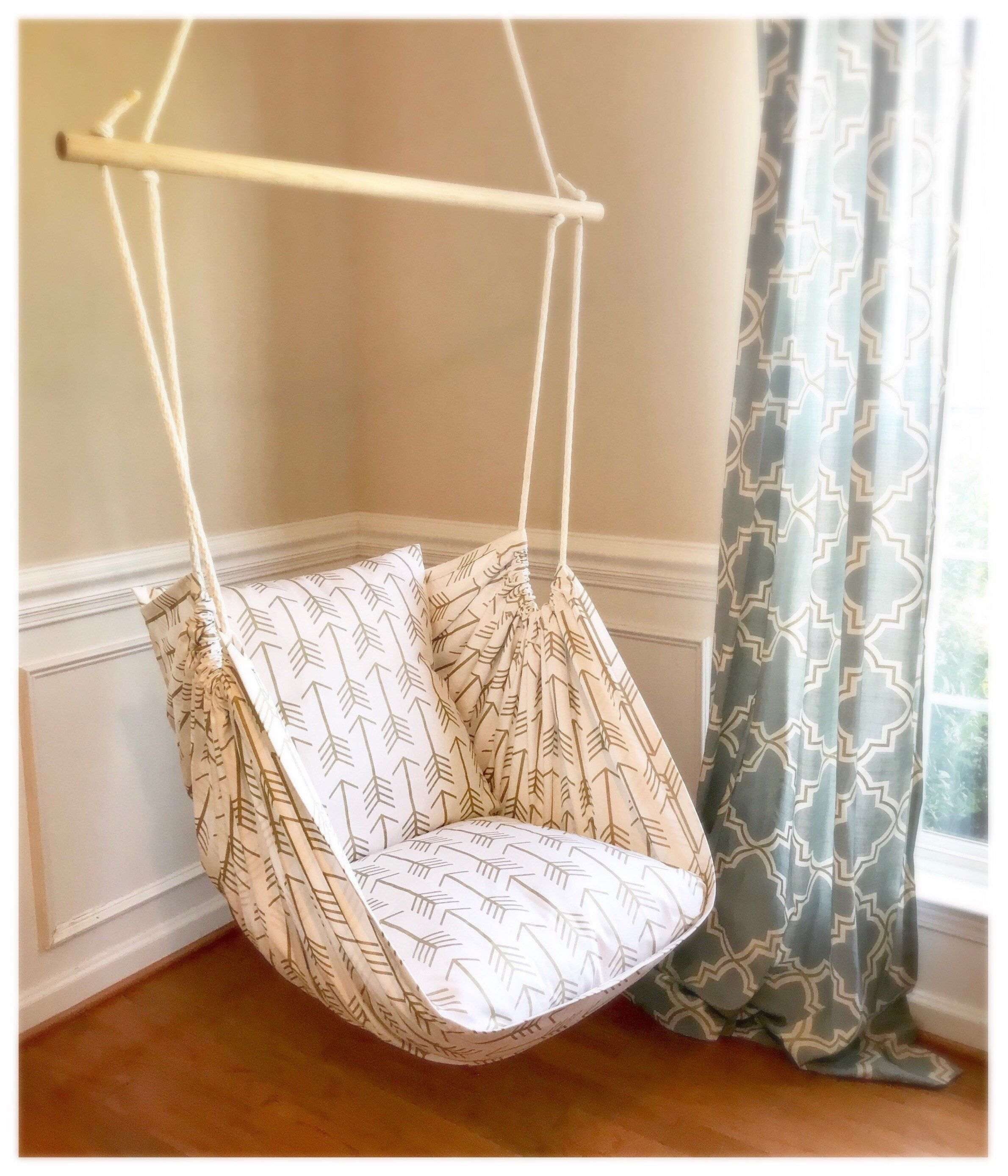 Arrow print hammock chair swing hanging chair in 2020