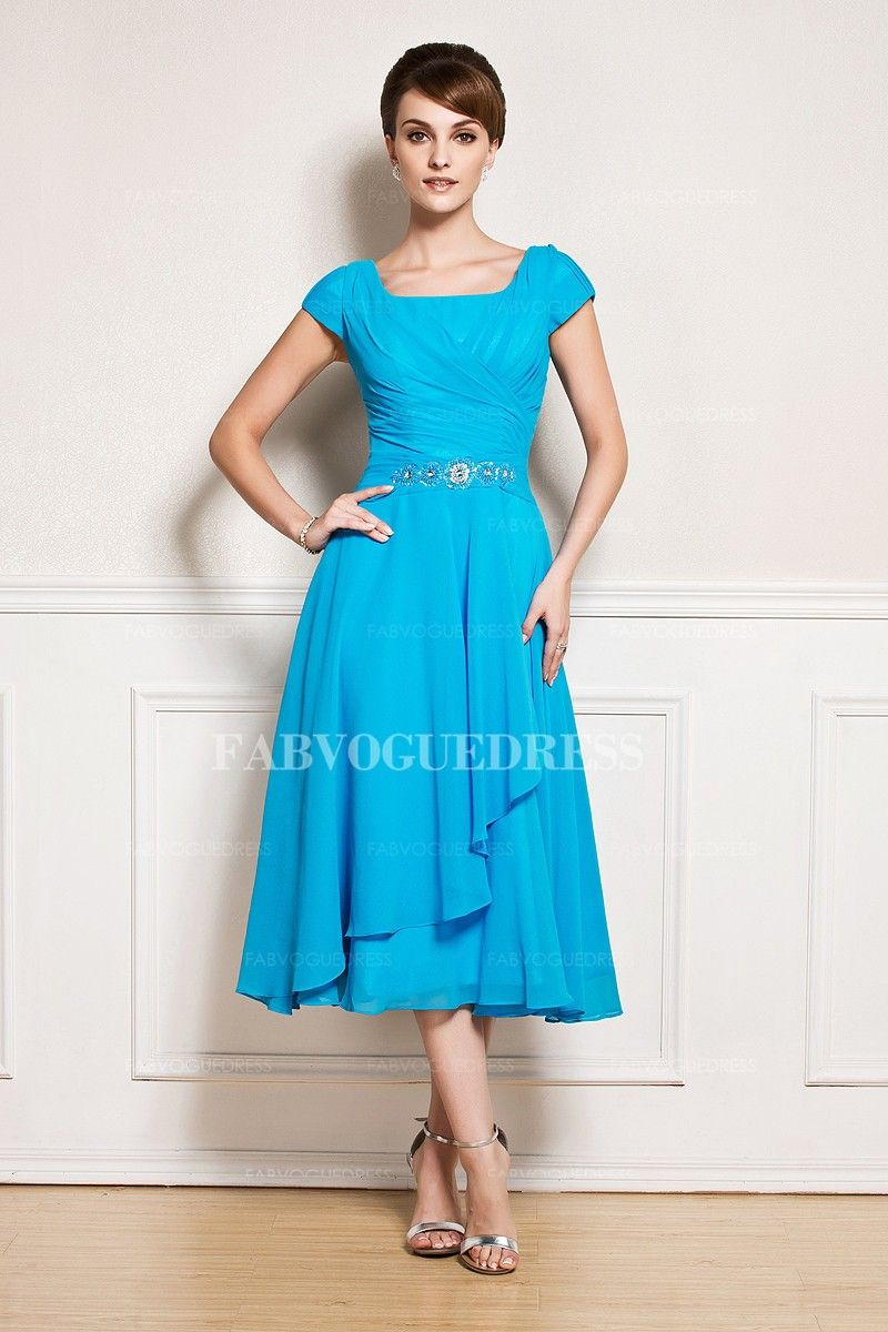 Fine Cheap Mother Of The Bride Dresses Tea Length Pattern - All ...