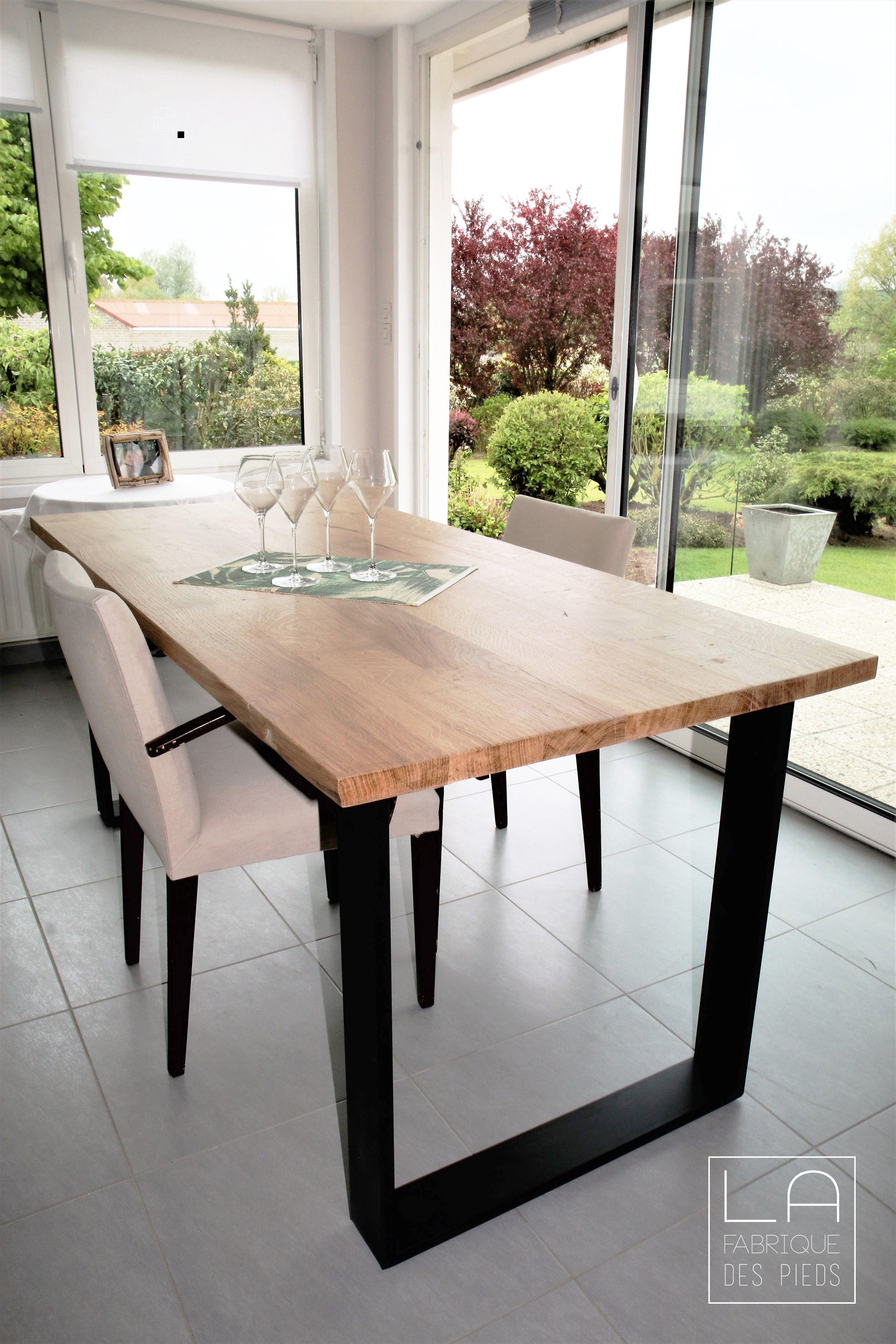 pied de table 71cm fer plat la fabrique des pieds pied de table design pieds de table deco salle a manger