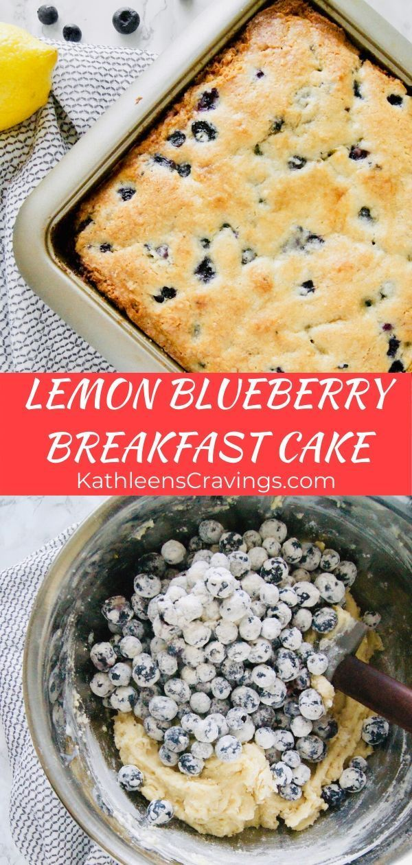 Lemon Blueberry Breakfast Cake | Kathleen's Cravings
