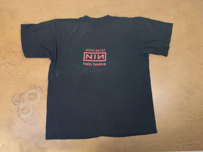 NINE Inch NAILS Shirt 90s NIN Vintage Halo Twelve Tour Intv2-90157 ...