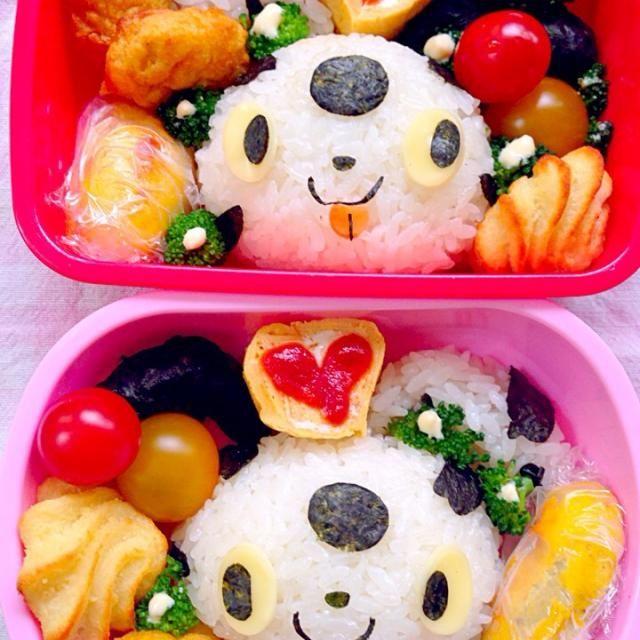 子犬のコロとバウが体のいろんな部分をぴたっとくっつけて遊ぶアニメーション(NHK) ッタッタラタ〜ラと音楽が始まると2人で真似っこ( *´艸`)これが可愛くって楽しみな時間です  ☆おむすび☆チキンナゲット☆ポムデュセスポテト☆卵焼き☆スィートポテト☆ - 52件のもぐもぐ - Lunch box☆Doggiesコロとバウ by Ami