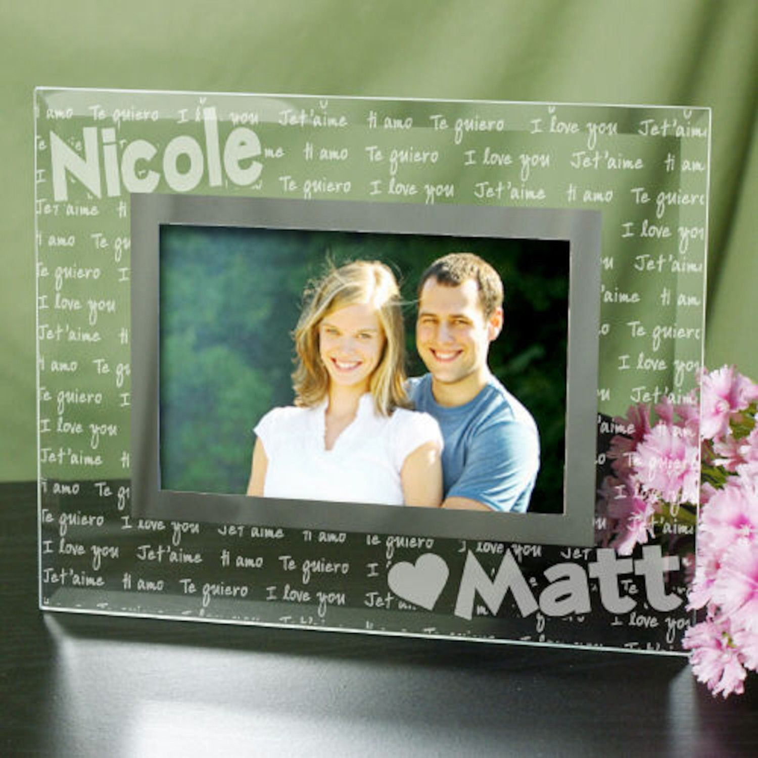 Personalized I Love You Personalized Glass Frame | Products ...