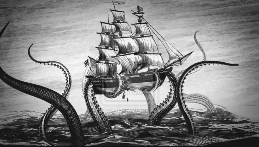 Kraken Rum Wallpaper Google Search Kraken Art Kraken Drawing Kraken