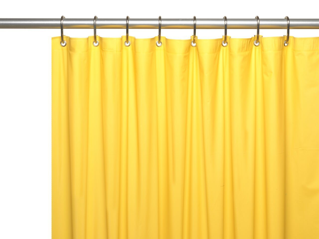 Canary yellow gauge extra heavy vinyl shower curtain liner with