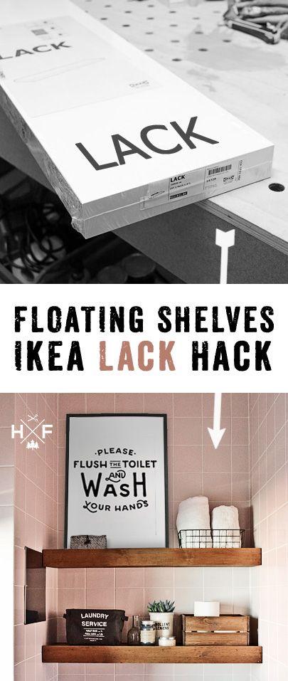 Ikea Lack Wandregal Hack With Images Ikea Diy Floating