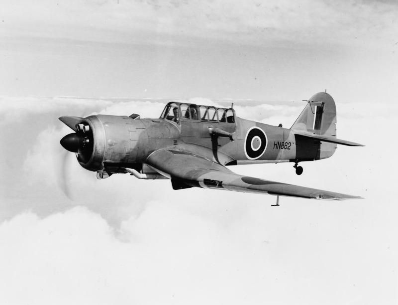 BRITISH AIRCRAFT ROYAL AIR FORCE SERVICE 1939-1945 MILES M25 MARTINET (HU 2180) Martinet TT Mark I, HN862, being flown by Miles Aircraft's chief test-pilot Tommy Rose shortly after completion. Following service with The RAE and the Aeroplane and Armament Experimental Establishment, HN862 joined No. 1634 (Anti-Aircraft Cooperation) Flight at Hutton Cranswick, Yorkshire, where it was lost as a result of a forced landing on 7 July 1943.