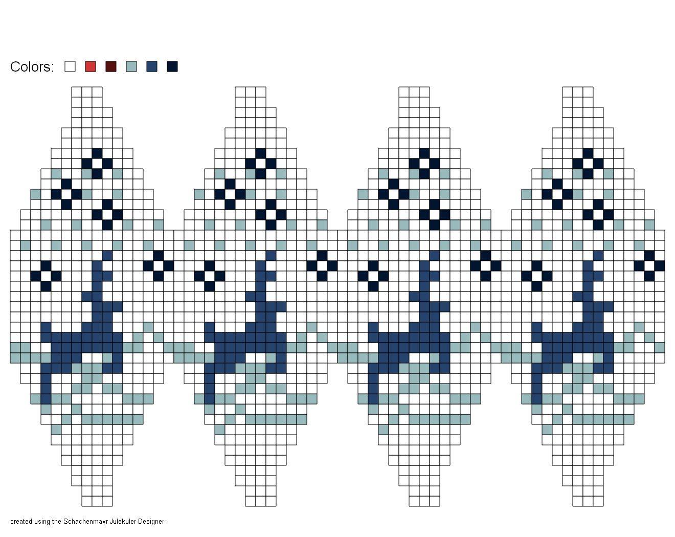 Christmas knitting ball, by Julekuler Designer app | Beaded bracelet ...
