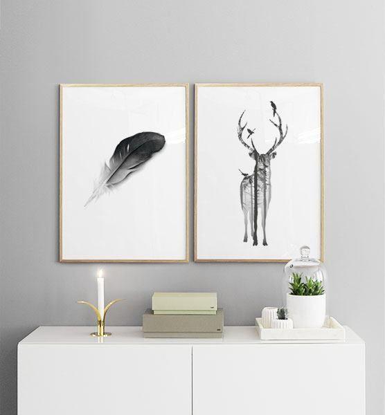 Bilderwand Im Schlafzimmer. Gestaltungsbeispiele Für Poster Im Schlafzimmer