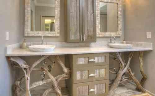 Le bois flotté en déco - 52 idées originales | salle de bain | Déco ...