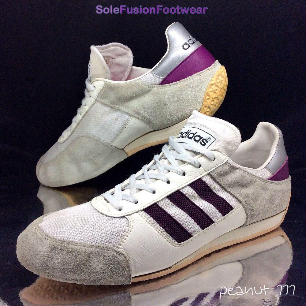 579ea64c52c adidas Originals mens Fencing Trainers White sz 11 Rare VTG Sneakers US  11.5 46
