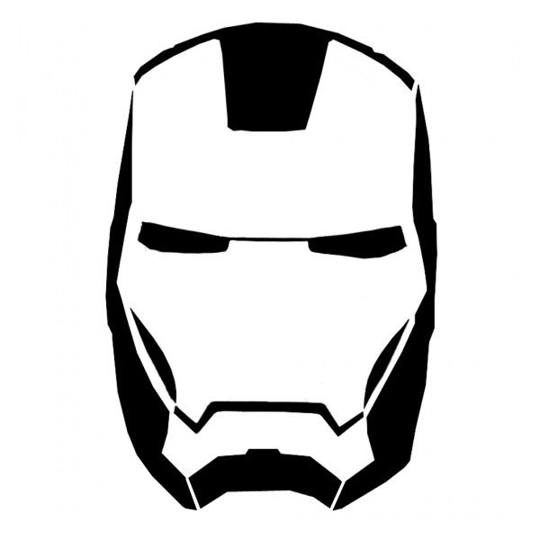 Iron Man Mask Stencil ❤ liked on Polyvore featuring avengers, iron