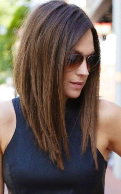 Medium Asymmetrical Hairstyle Hairstyles 2017 Haircuts Long Bob Lob Hair
