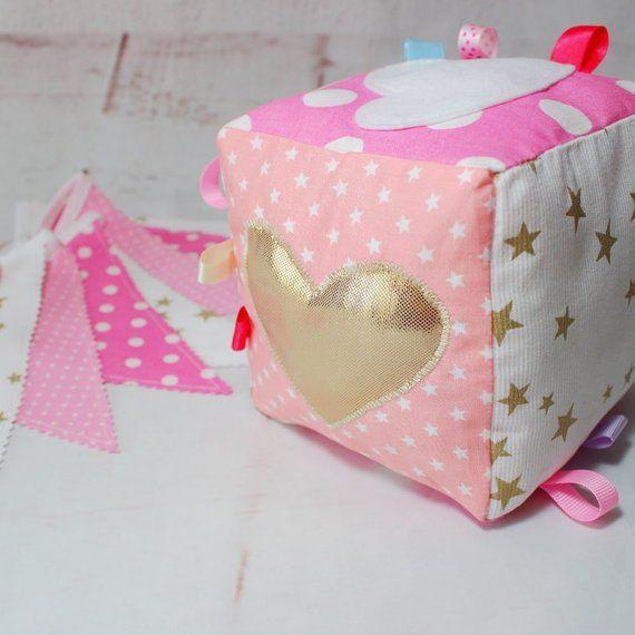 Baby soft block, Baby Gym Toys, Sensory baby, Quiet Cube, Baby Girl, Newborn Baby Toys, Baby activity block,Montessori, Fabric baby block,