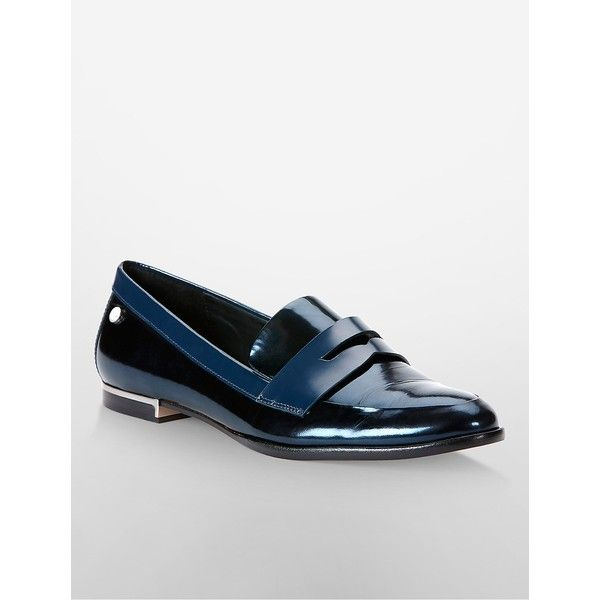 Navy blue shoes, Metallic loafers