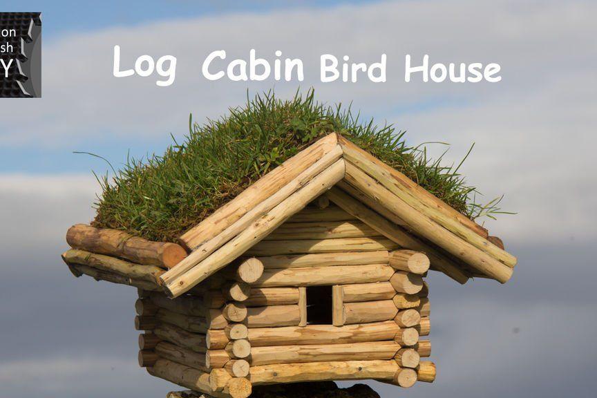 Diy Log Cabin Bird House Diy Log Cabin Bird House Hummingbird House