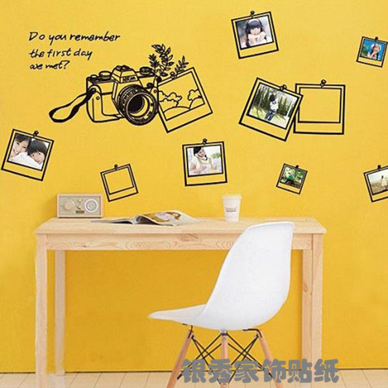 black Photo frame sweet memory Wall Sticker Home Decoration Wall ...