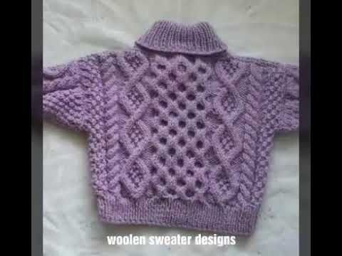 c07903e8a31430 woolen sweater designs - one colour sweater design for kids or baby in hindi  - YouTube