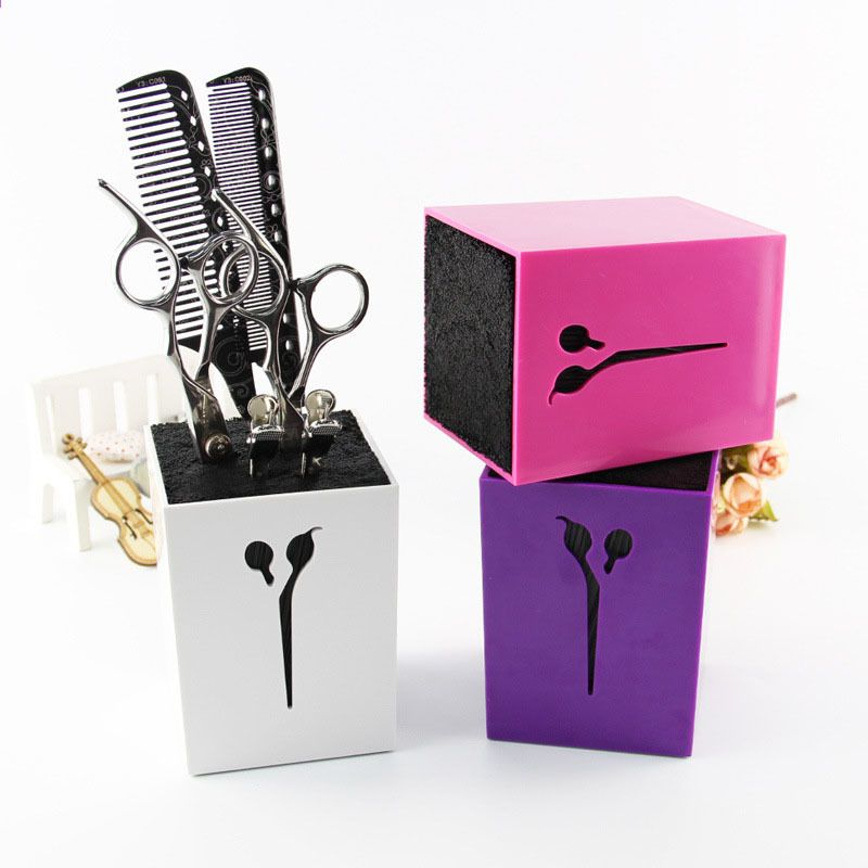Shear Holder Professional Salon Hairdressing Barber Combs Scissors Stand Tool