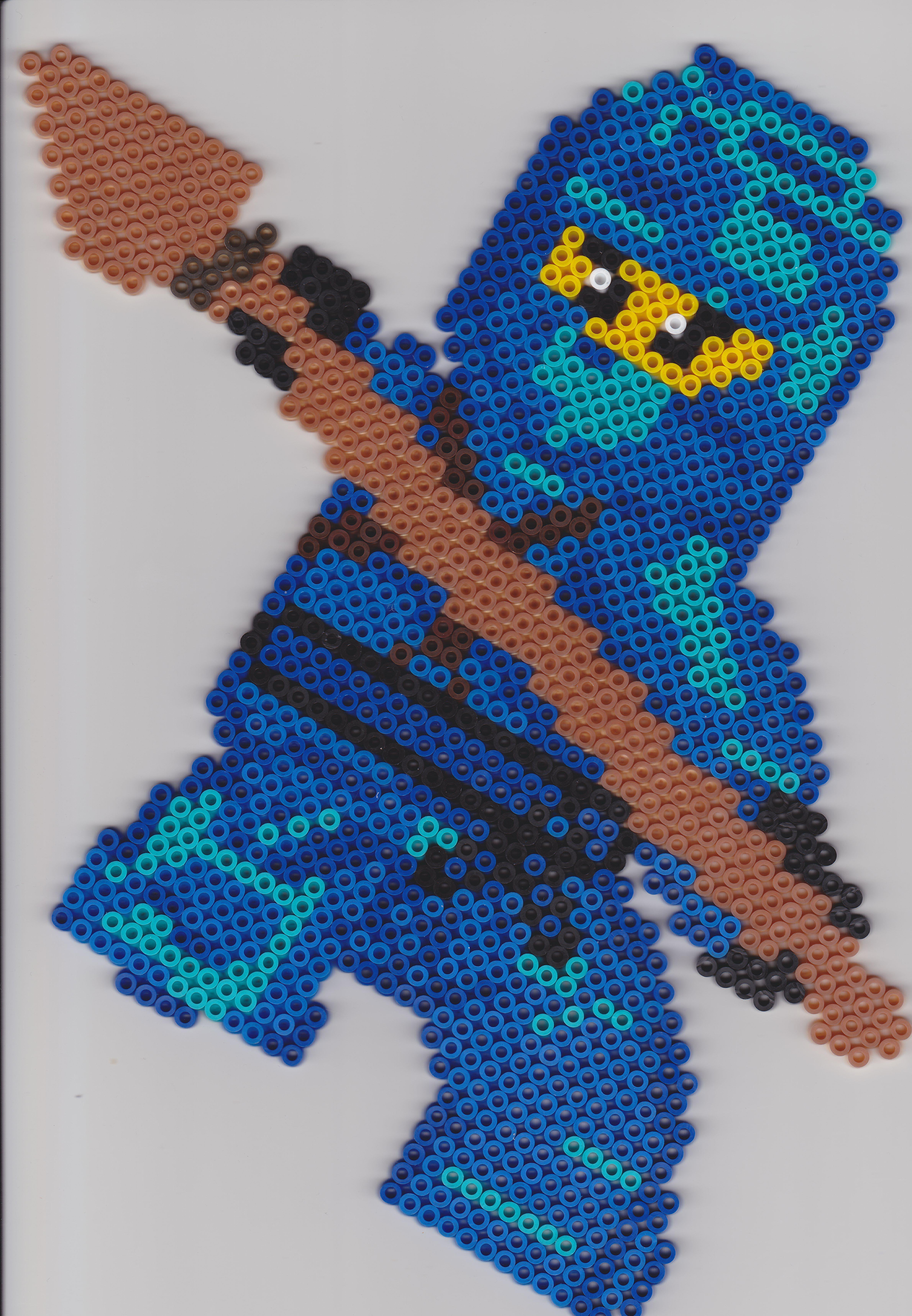 Bügelperlen Ninjago Jay Vorlage Perler Beads Bügelperlen