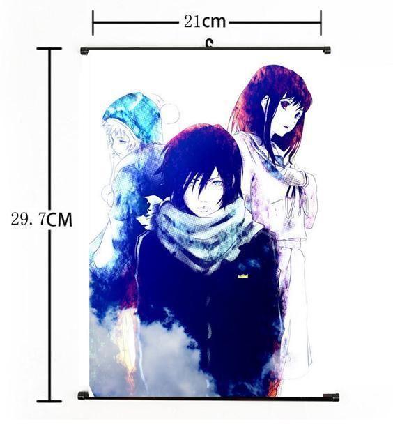 Home Decor Japanese Anime Wall Scroll Poster Noragami Yato Yukine Hiyori Cosplay