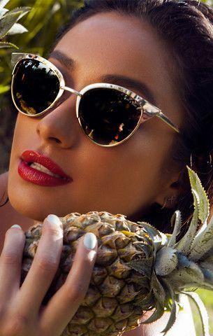 Tilly Gold Sunglasses #eyewear #sunny #covetme