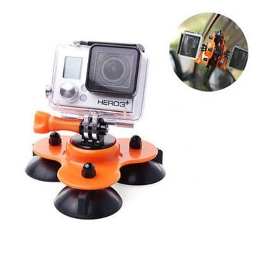 Removable Low Angle Car Suction Cup Mount For Gopro HD Hero