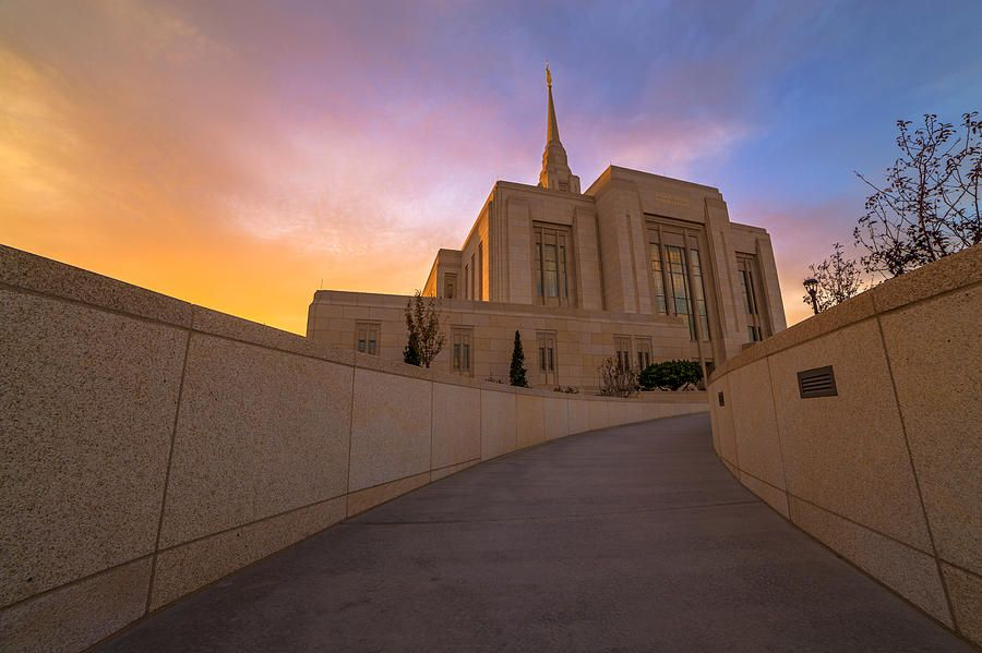 """""""The Path Of Righteousness"""" Image of the Ogden, Utah LDS Temple"""