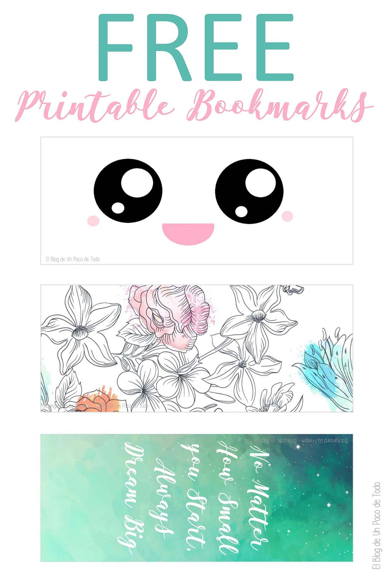 graphic about Cute Bookmarks Printable titled Totally free Printable Bookmarks No cost Printables Free of charge printable